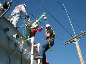 Fall Protection Power Crew with Rescue Davit